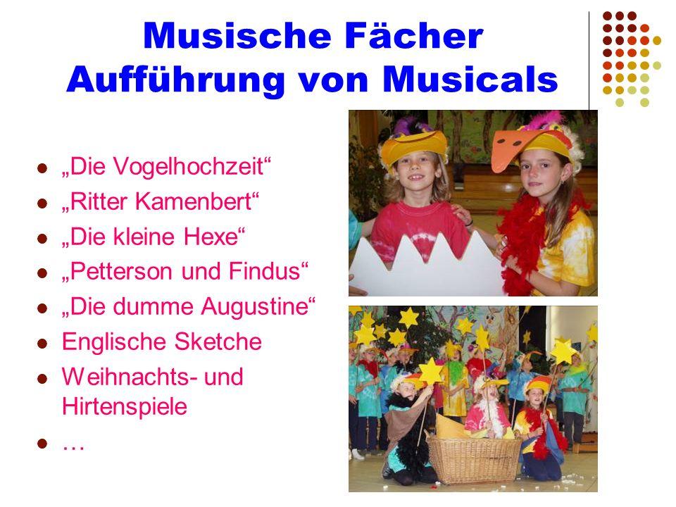 Musische Fächer Aufführung von Musicals