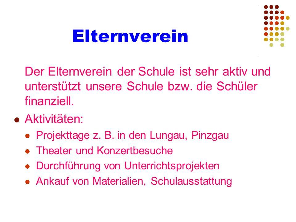 Elternverein Aktivitäten: