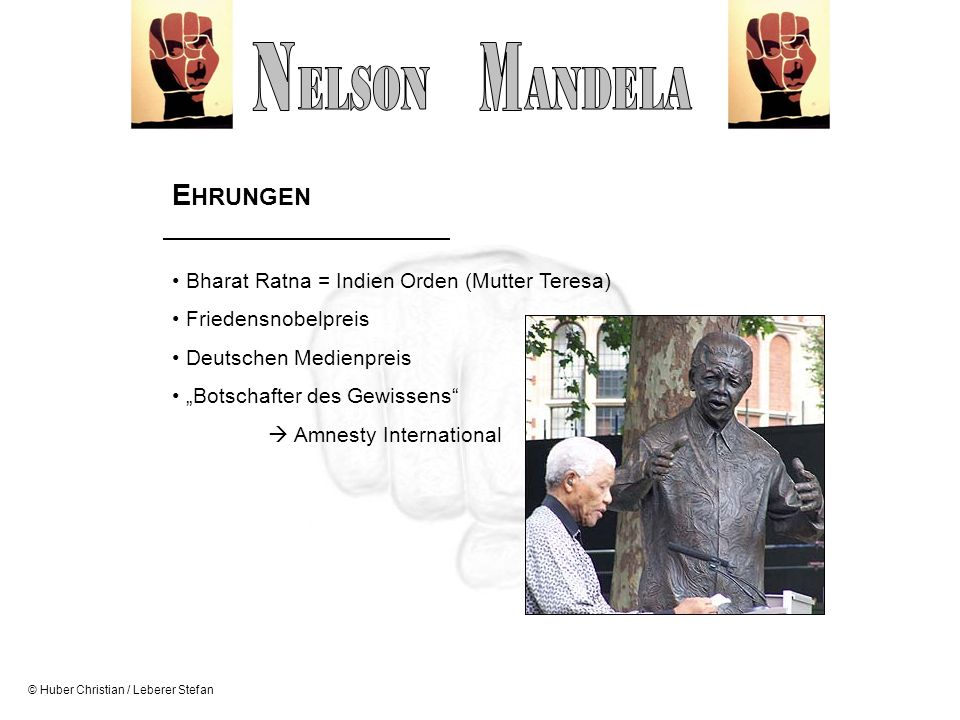 N M ELSON ANDELA EHRUNGEN Bharat Ratna = Indien Orden (Mutter Teresa)