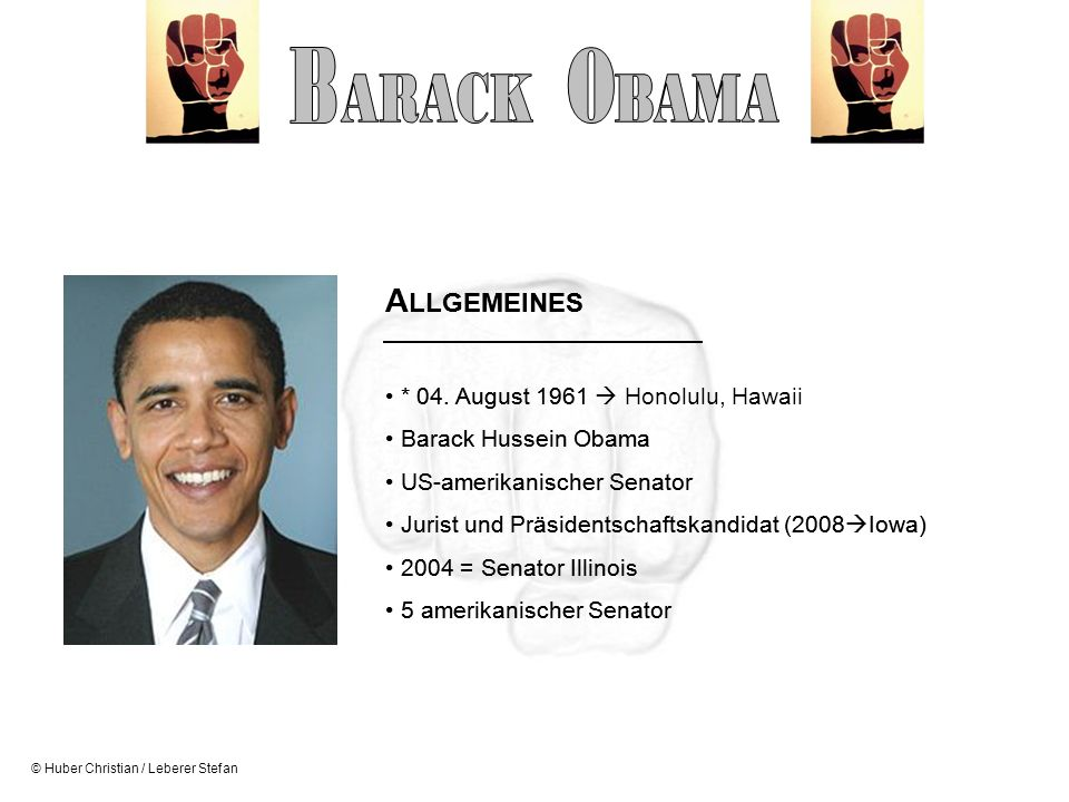 B O ARACK BAMA ALLGEMEINES ALLGEMEINES * 04. August 1961