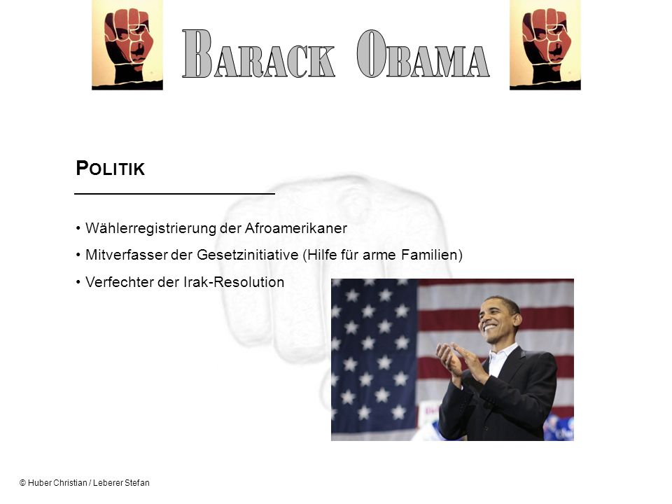 B O ARACK BAMA POLITIK Wählerregistrierung der Afroamerikaner