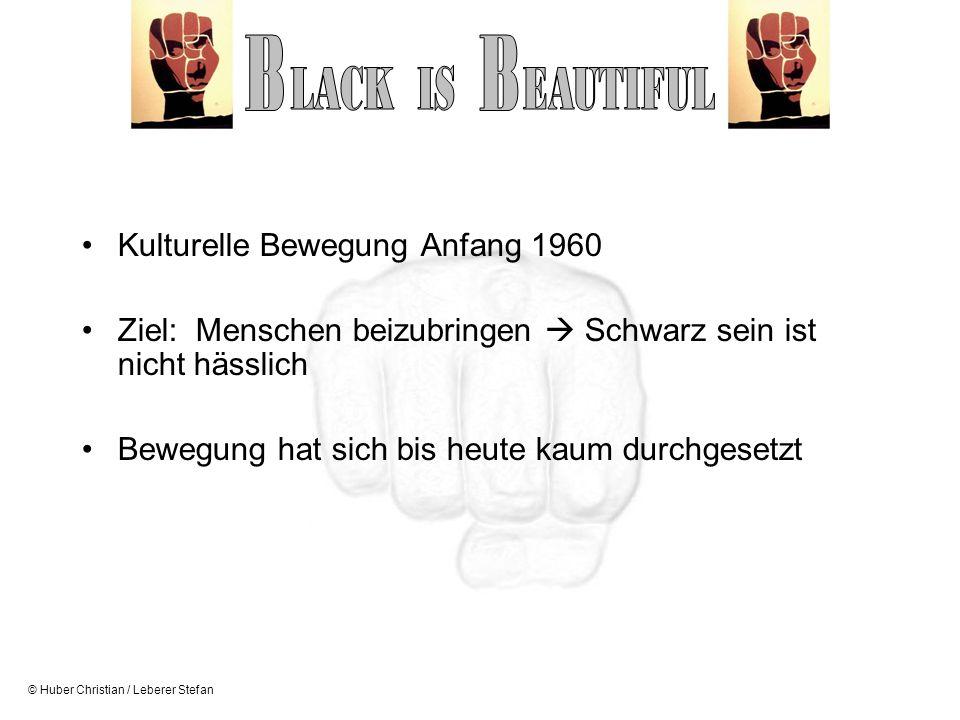 B B LACK IS EAUTIFUL Kulturelle Bewegung Anfang 1960