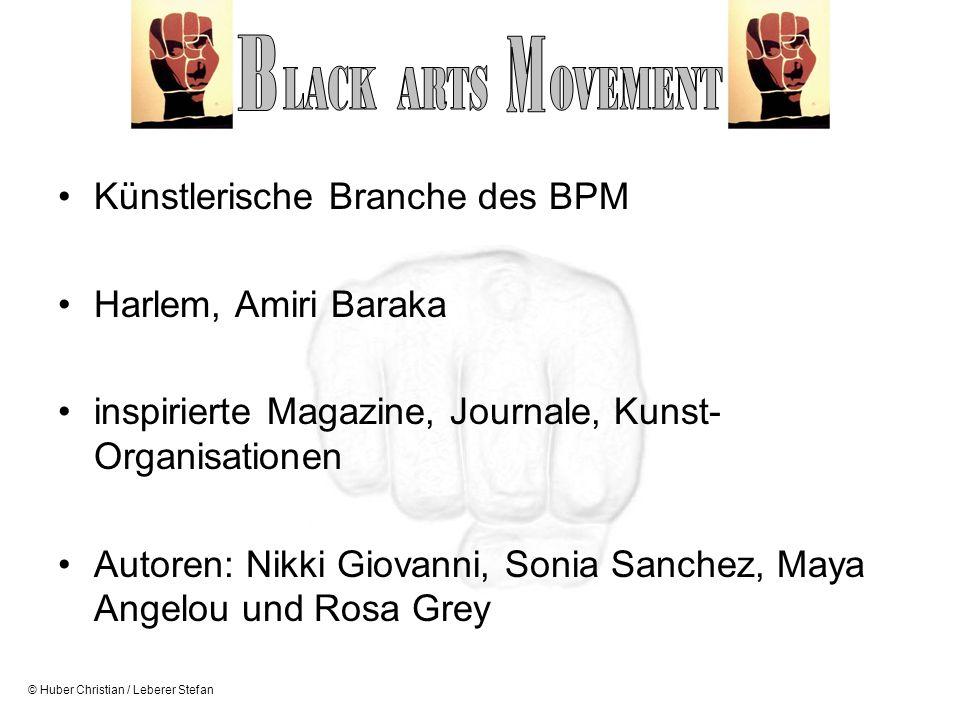 B M LACK ARTS OVEMENT Künstlerische Branche des BPM
