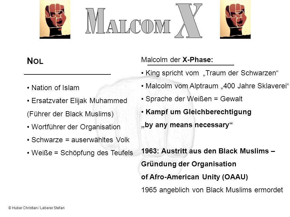 X M ALCOM NOL Malcolm der X-Phase: