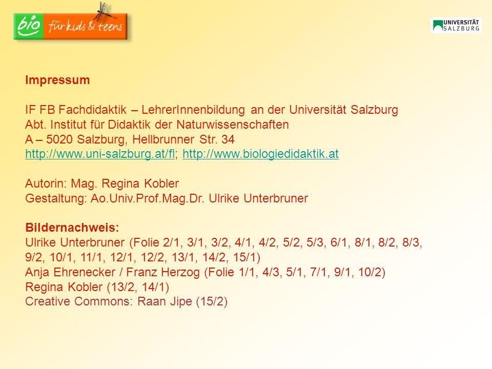IF FB Fachdidaktik – LehrerInnenbildung an der Universität Salzburg