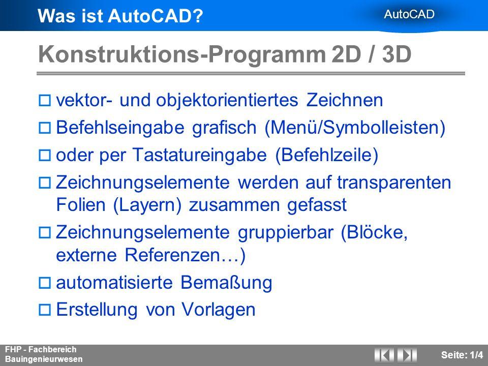 Konstruktions-Programm 2D / 3D