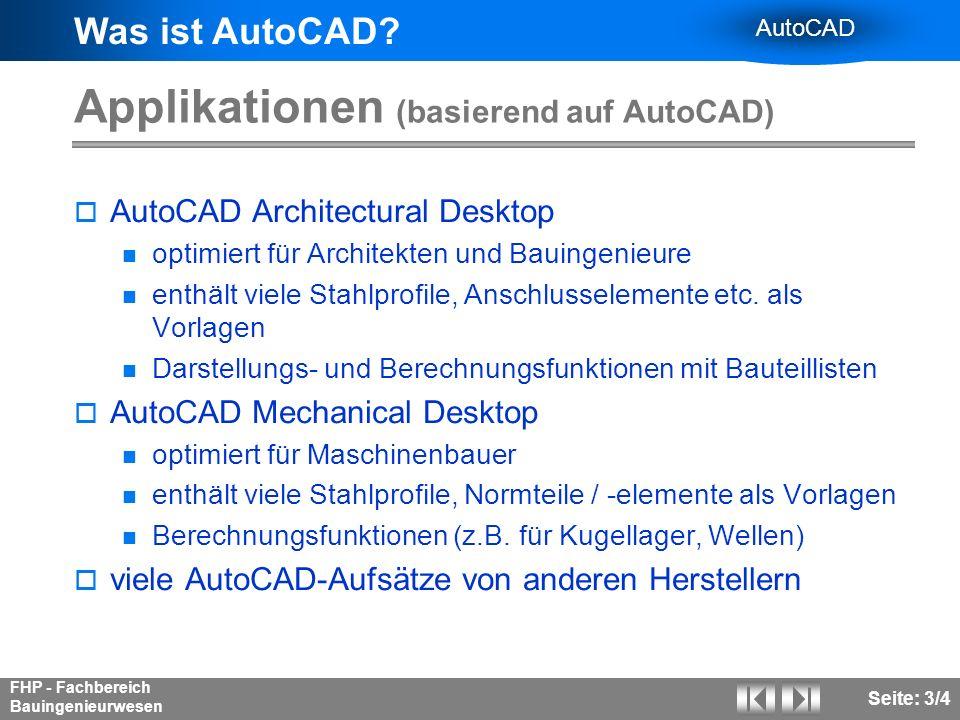 Applikationen (basierend auf AutoCAD)