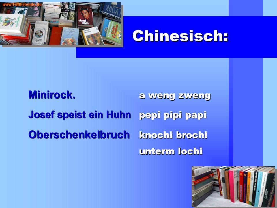 Chinesisch: Minirock. a weng zweng