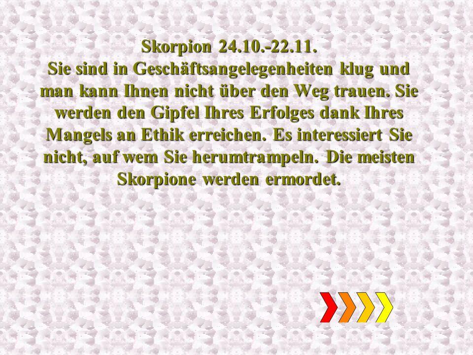 Skorpion 24.10.-22.11.
