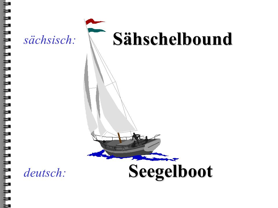 Sähschelbound Seegelboot