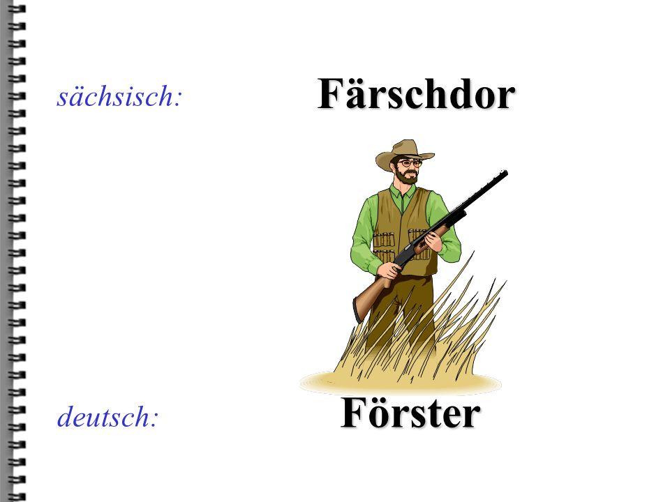sächsisch: Färschdor Förster deutsch: