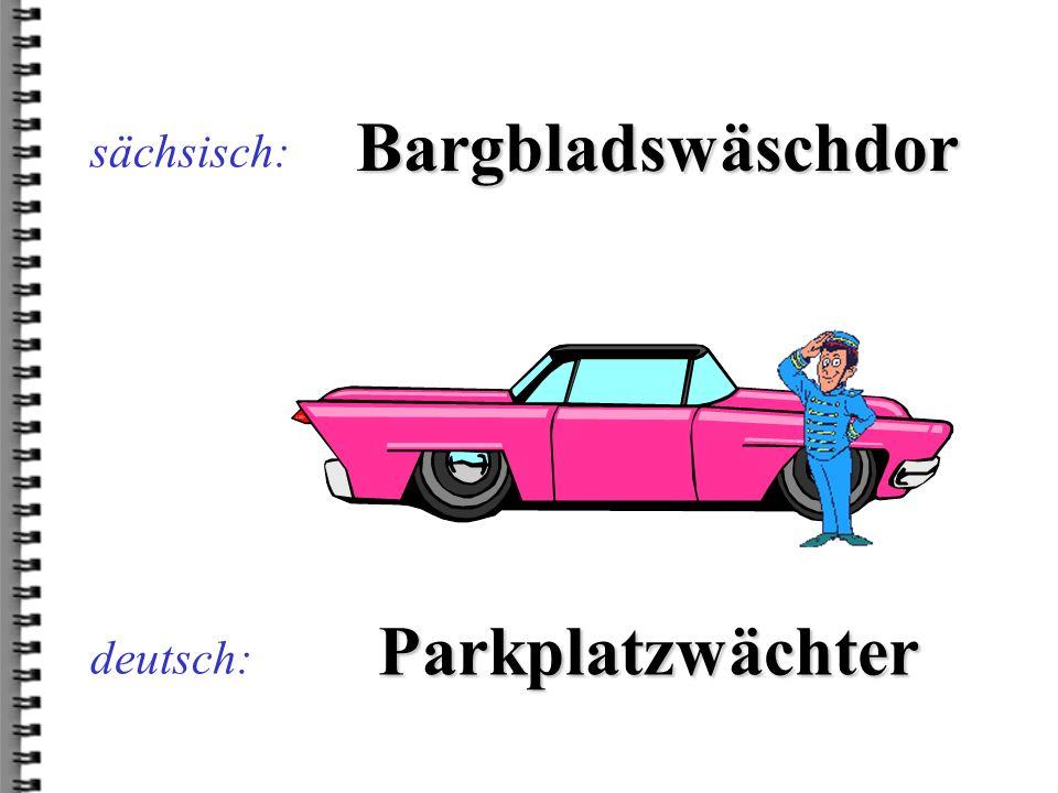 Bargbladswäschdor Parkplatzwächter