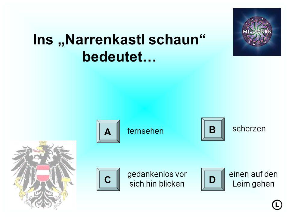 "Ins ""Narrenkastl schaun bedeutet…"