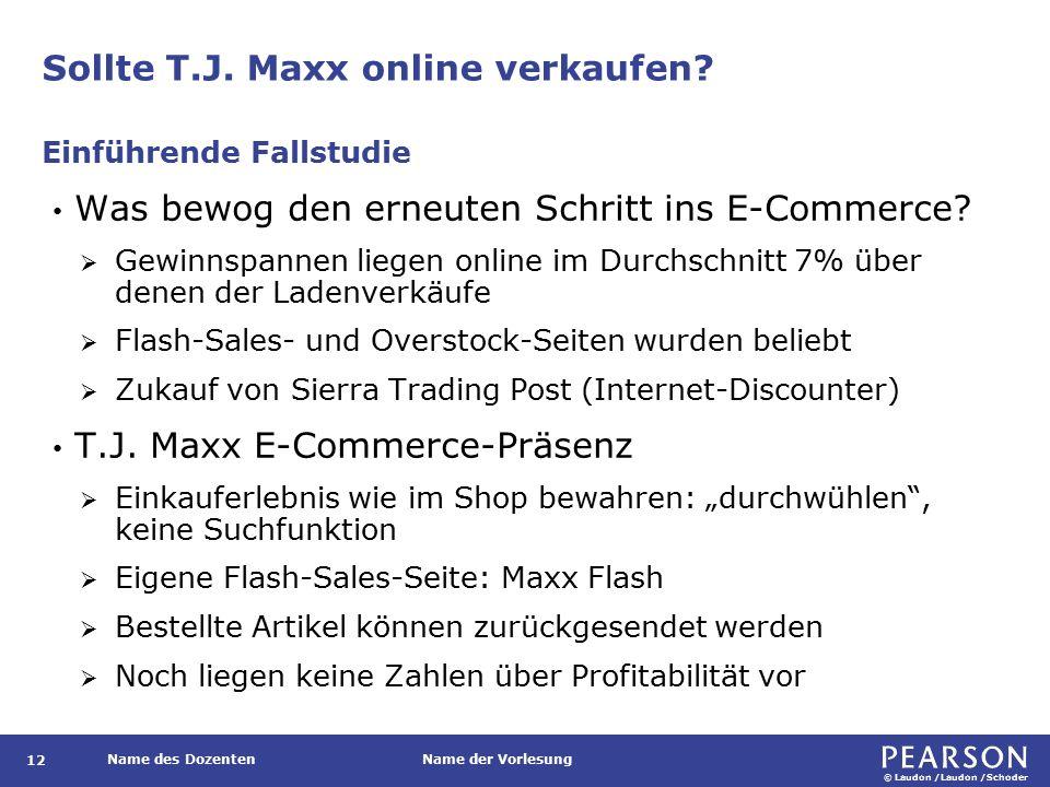 Sollte T.J. Maxx online verkaufen
