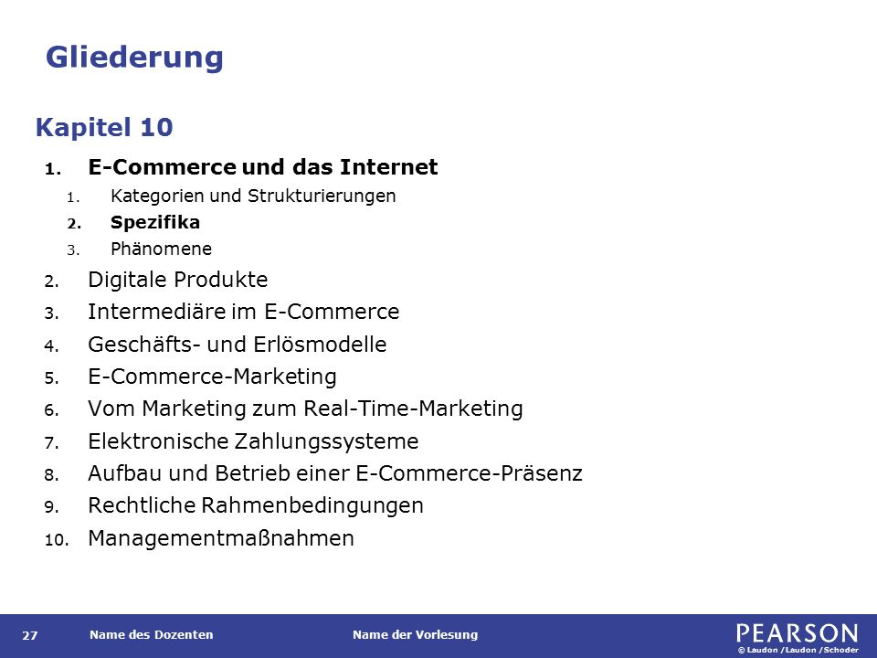 Spezifika des internet-basierten E-Commerce