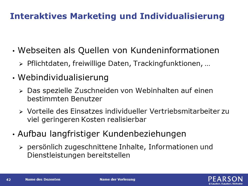 Interaktives Marketing und Individualisierung