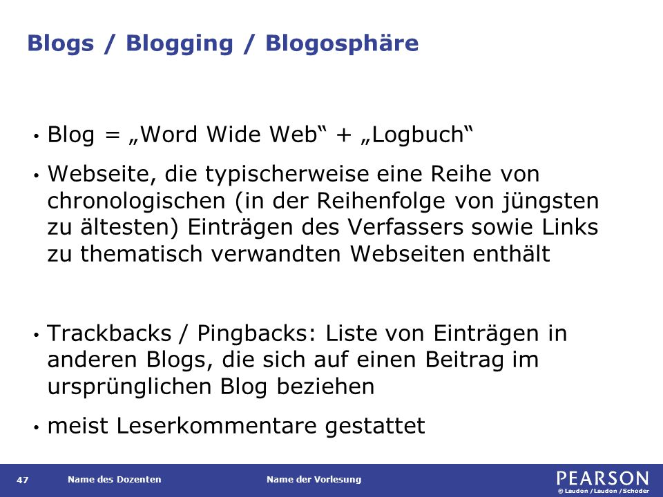 Blogs / Blogging / Blogosphäre