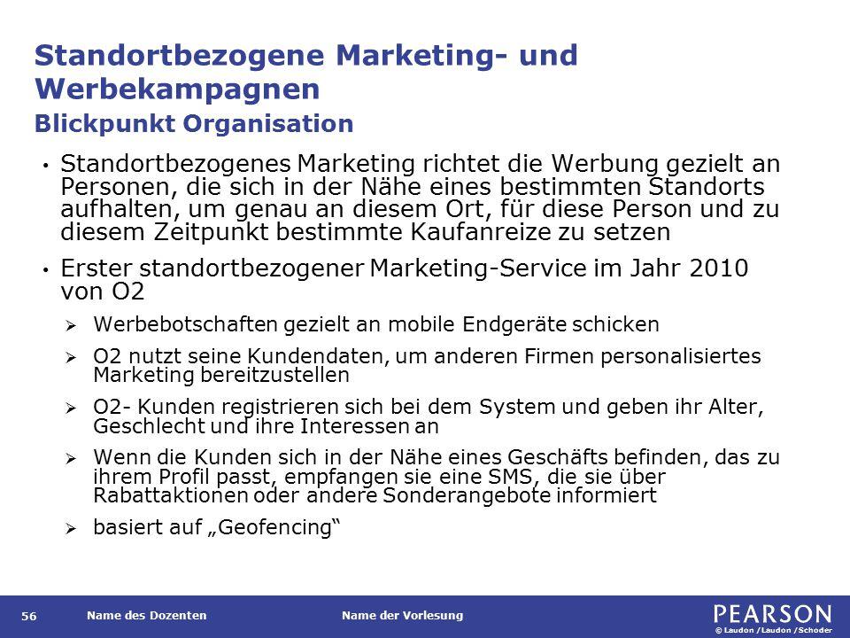 Standortbezogene Marketing- und Werbekampagnen