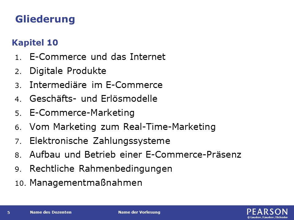 Lernziele Was versteht man unter Electronic Commerce (E-Commerce)