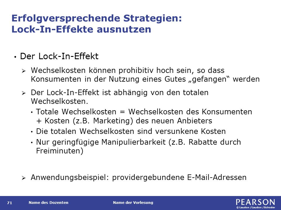 Lock-In-Effekt und Lock-In-Profit