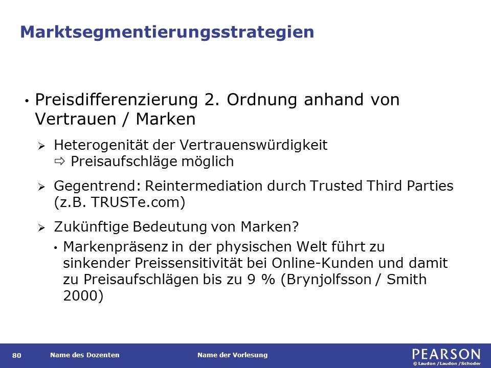 Marktsegmentierungsstrategien