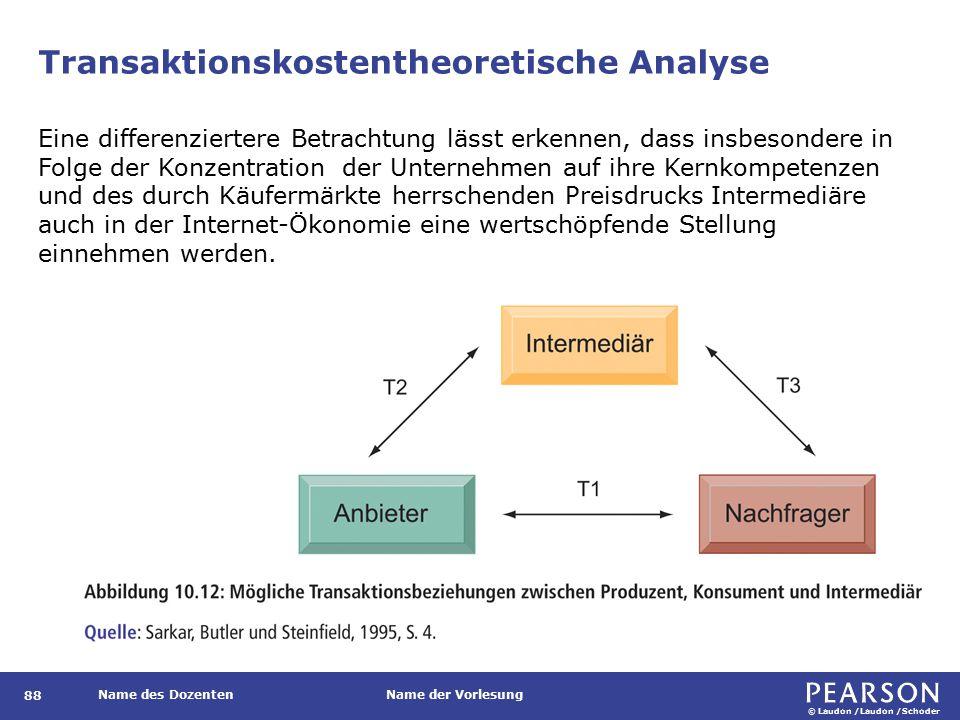 Transaktionskostentheoretische Analyse