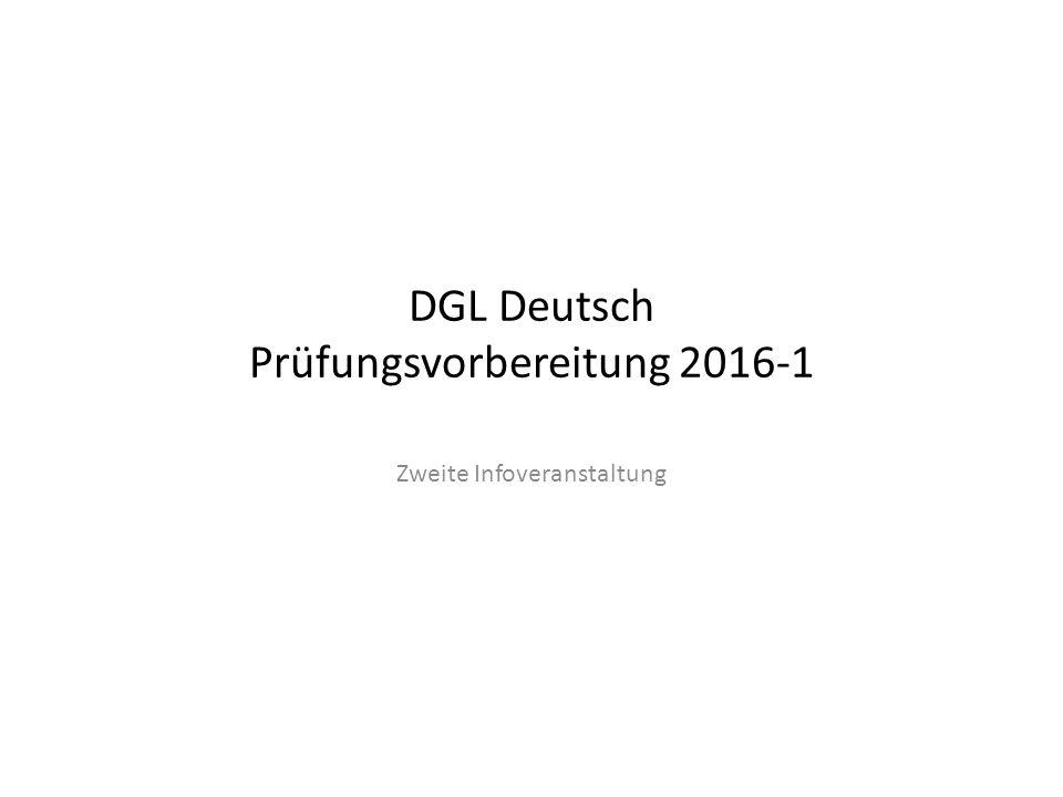 DGL Deutsch Prüfungsvorbereitung 2016-1