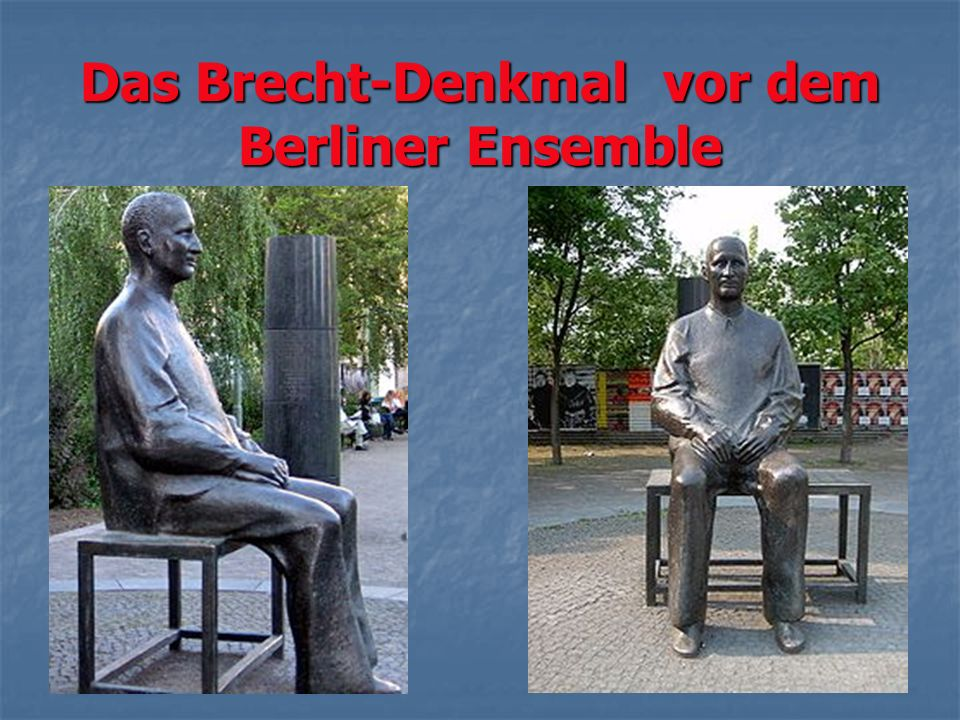 Das Brecht-Denkmal vor dem Berliner Ensemble