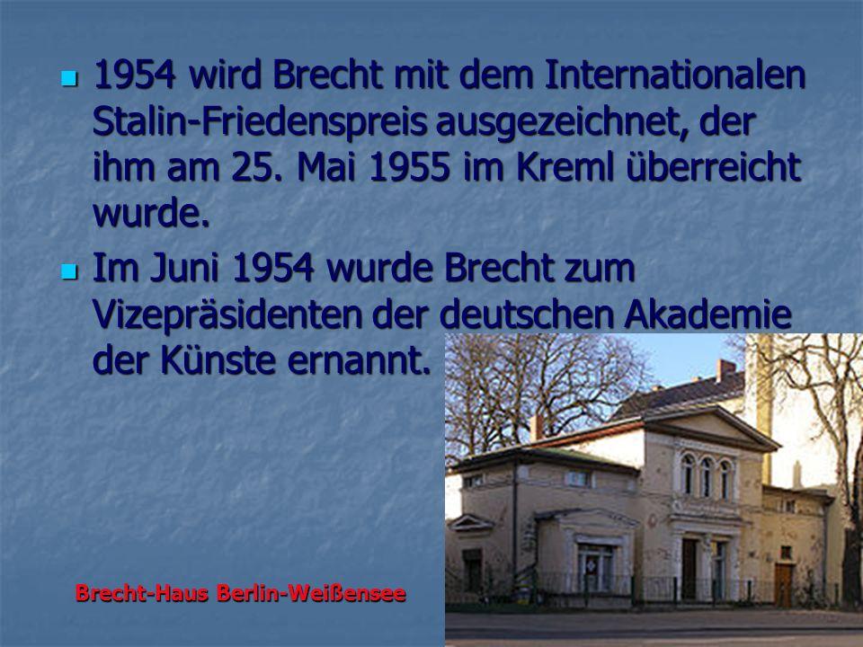 Brecht-Haus Berlin-Weißensee