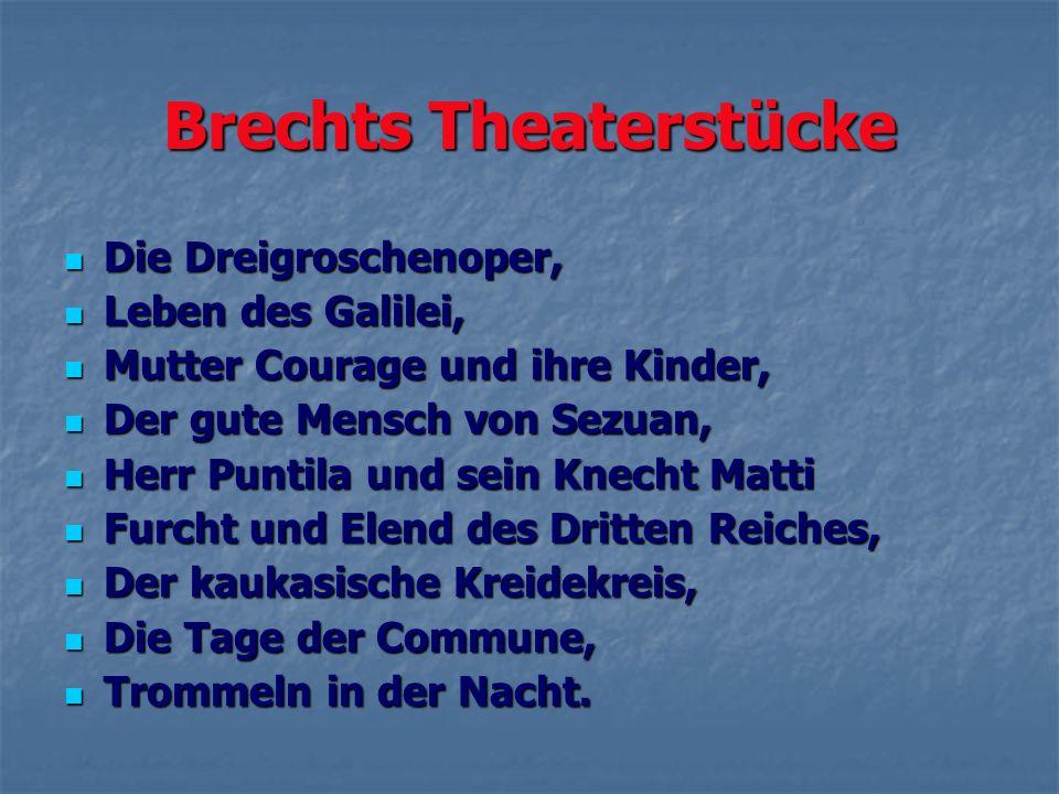 Brechts Theaterstücke