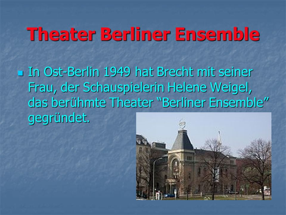 Theater Berliner Ensemble