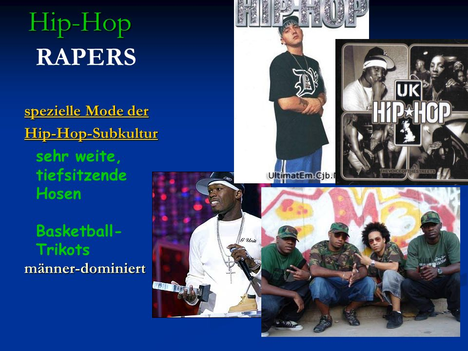 Hip-Hop RAPERS spezielle Mode der Hip-Hop-Subkultur