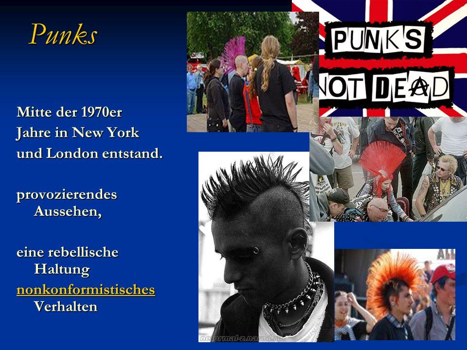 Punks Mitte der 1970er Jahre in New York und London entstand.