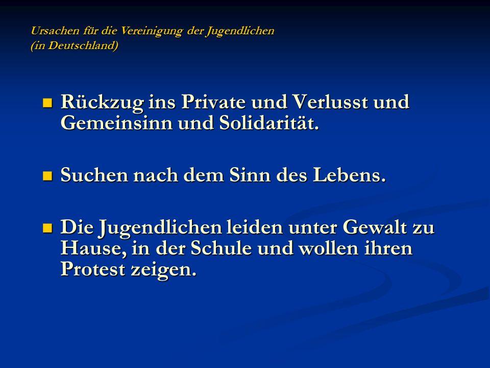 Rückzug ins Private und Verlusst und Gemeinsinn und Solidarität.