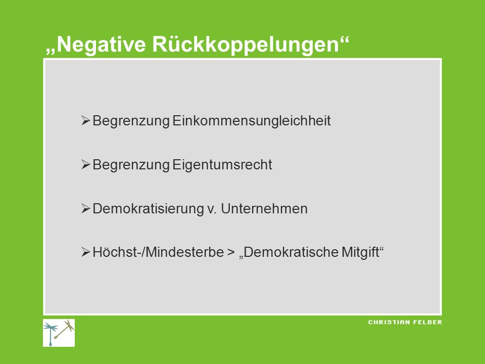 """Negative Rückkoppelungen"