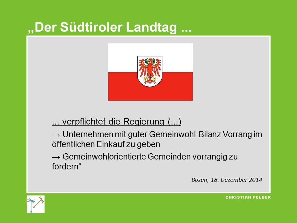 """""""Der Südtiroler Landtag ..."""