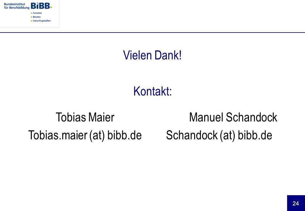 Tobias.maier (at) bibb.de Manuel Schandock