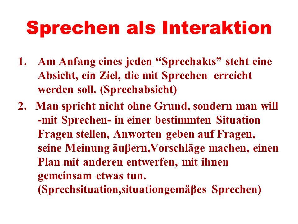 Sprechen als Interaktion