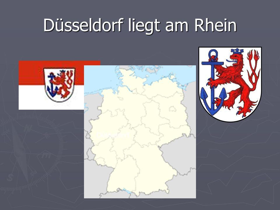 Düsseldorf liegt am Rhein