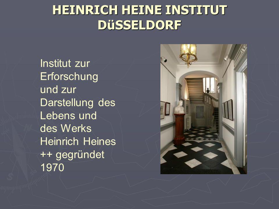 HEINRICH HEINE INSTITUT DüSSELDORF