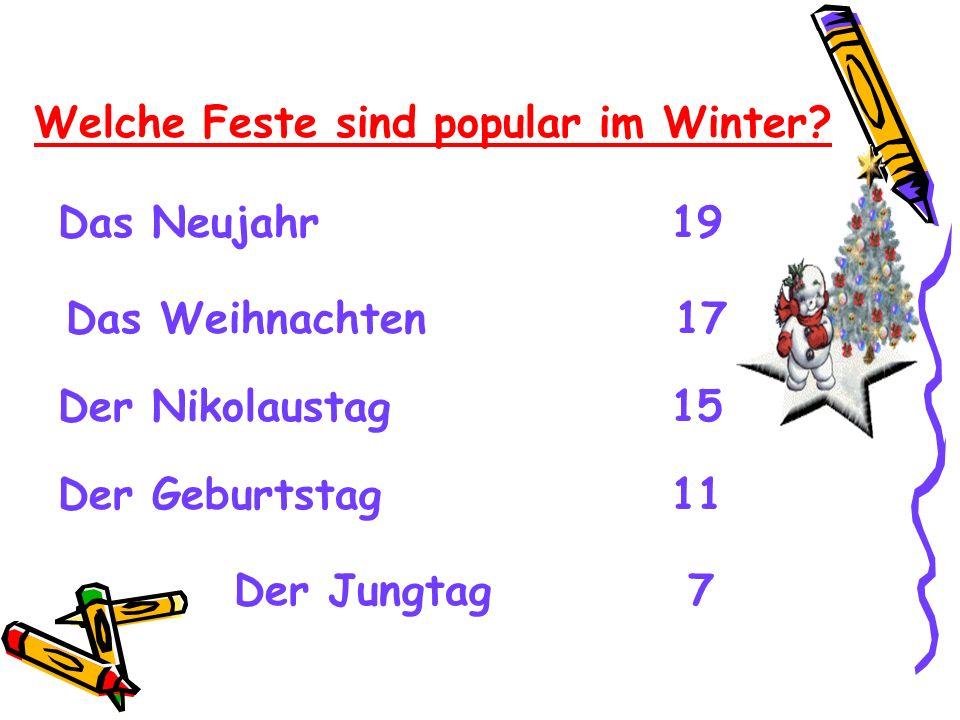 Welche Feste sind popular im Winter