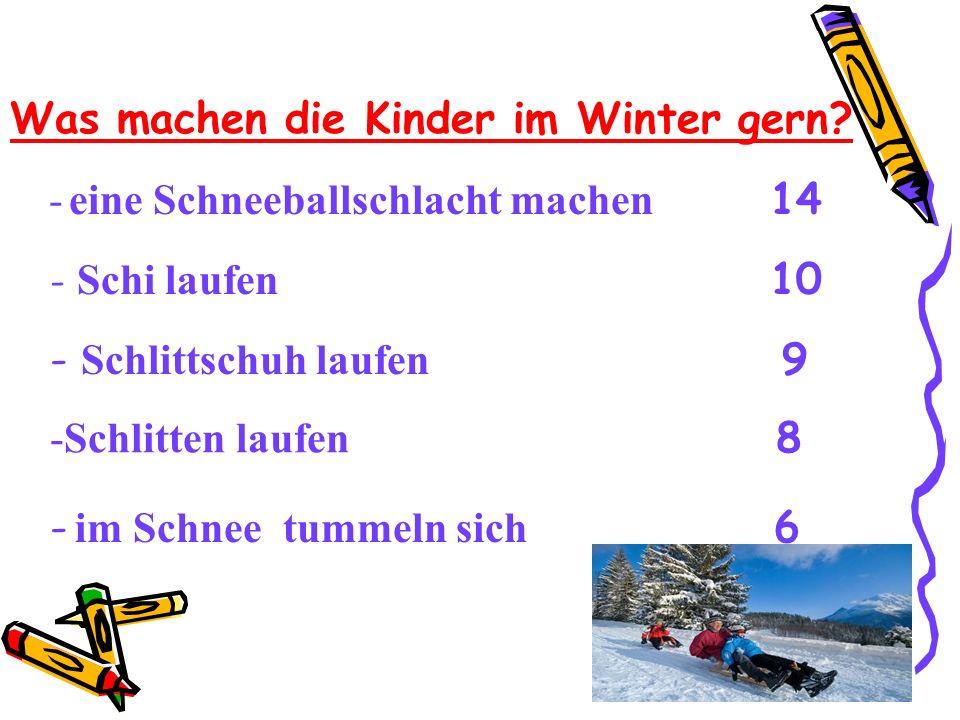 Was machen die Kinder im Winter gern