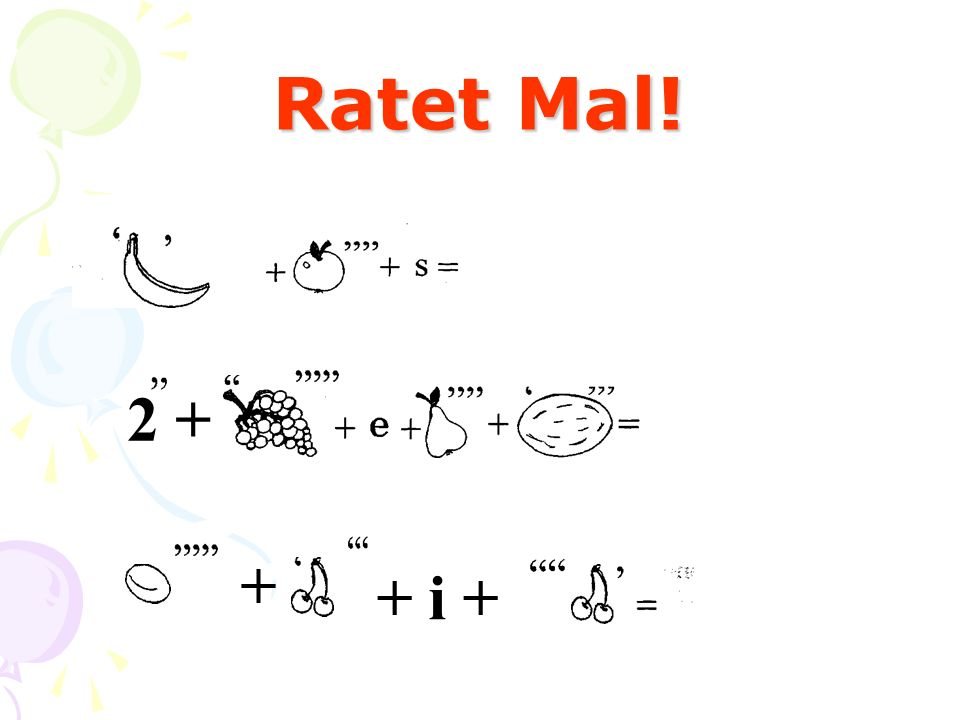 Ratet Mal! 2 + + + i +