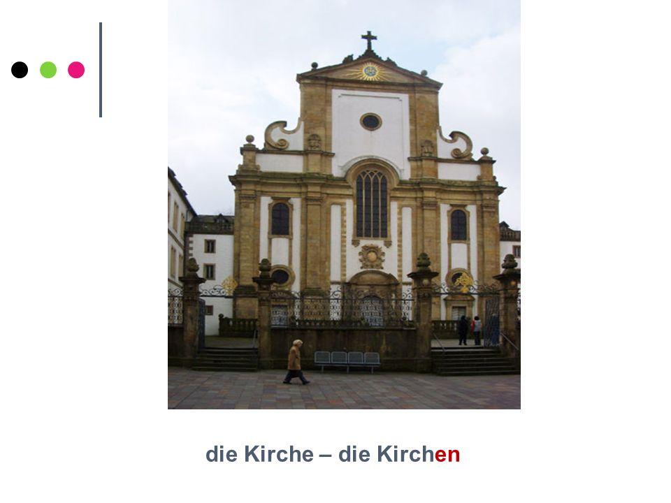 die Kirche – die Kirchen