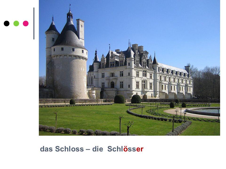 das Schloss – die Schlösser