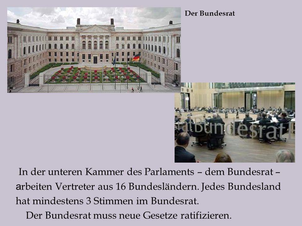 In der unteren Kammer des Parlaments – dem Bundesrat –