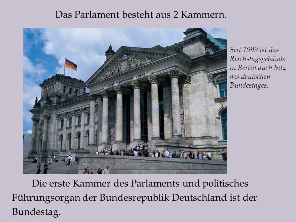 Das Parlament besteht aus 2 Kammern.