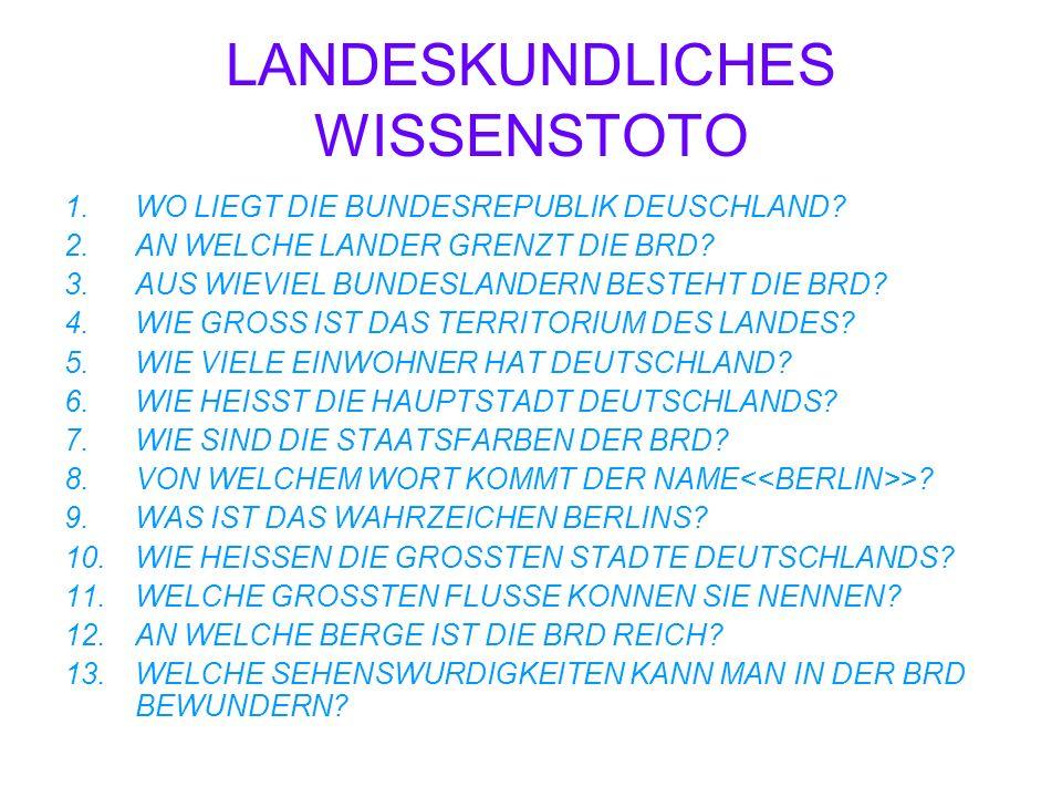 LANDESKUNDLICHES WISSENSTOTO
