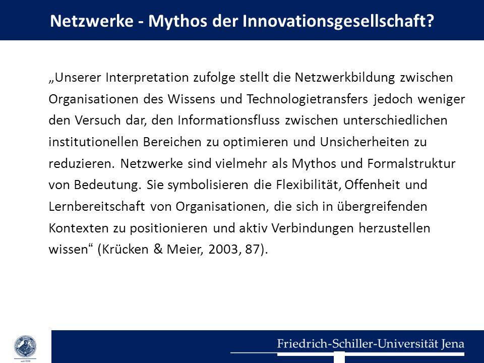 Netzwerke - Mythos der Innovationsgesellschaft