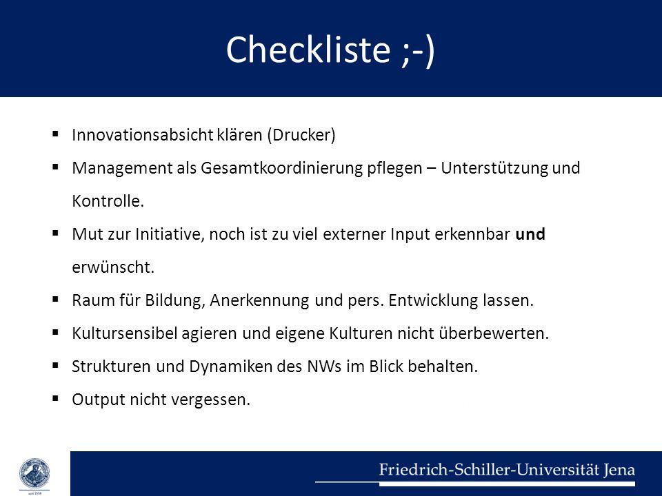 Checkliste ;-) Innovationsabsicht klären (Drucker)